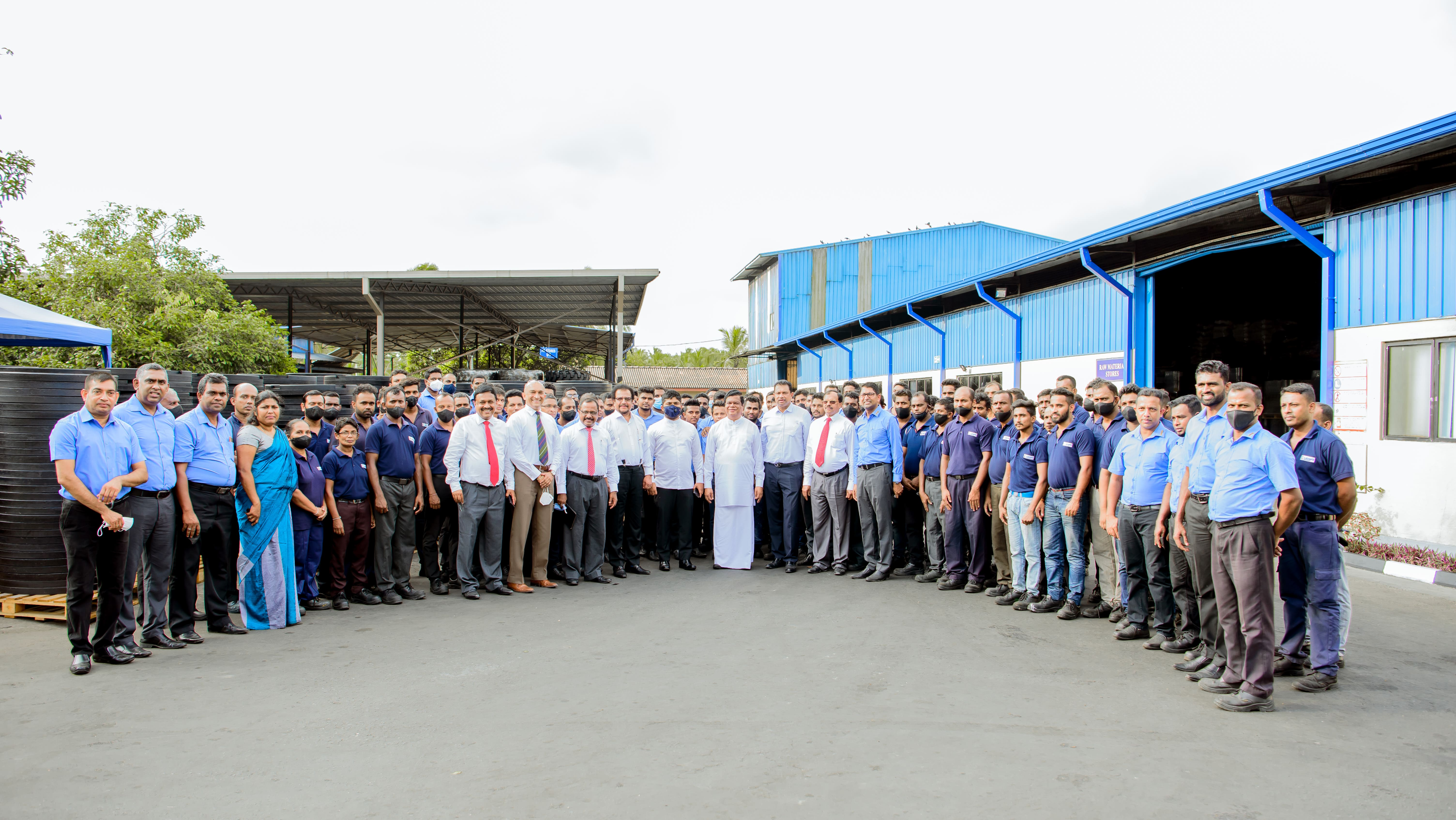Trade Minister tours LAUGFS Rubber Plant in Horana